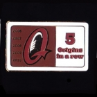 2010 QLD State of Origin 5 in a Row Pin Badge