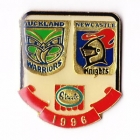 1996 ARL Warriors v Knights Streets Pin Badge