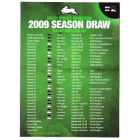 2009 South Sydney Rabbitohs NRL Season Draw Magnet